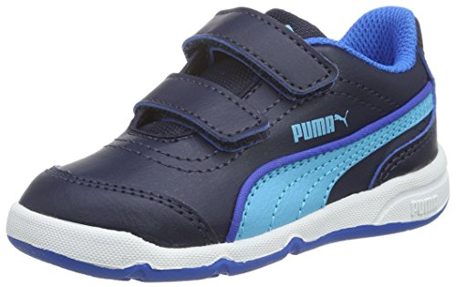 Puma Stepfleex Fs Sl V Inf, Sneaker Children and Teenagers (Gymnastics), Peacoat/Blue Atoll, 4 EU