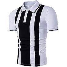 Hot Sale!!ZYooh New Fashion Men's Polos Shirt,Turn-down Collar Sleeve Tee Dress Shirt Casual Slim Short Sleeve Blouse Tops