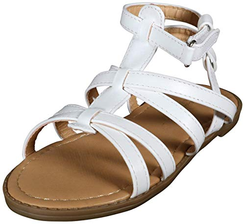 (Nicole Miller New York Toddler Girls Comfortable Gladiator Sandals with Braided Straps, White, Size 9 M US Toddler' )