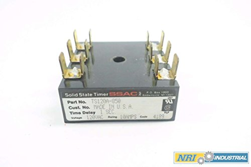 State Ssac Solid Timer (SSAC TS120A-850 SOLID STATE TIMER 1SEC 120V-AC 10A AMP D548416)