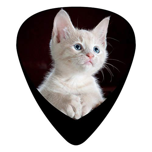 Cute Animal Cat Guitar Picks Personalized Fashion Celluloid Plectrums 12-Pack
