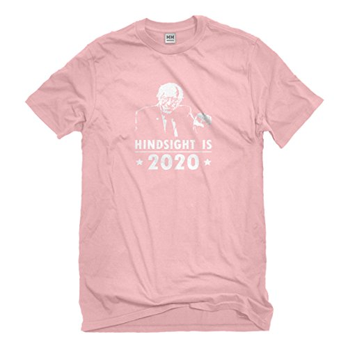 Hindsight Costume (Mens Hindsight 2020 Bernie XX-Large Light Pink T-Shirt)