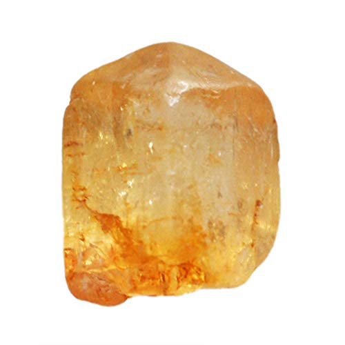 Awesome Natural Brazilian Imperial Gold Topaz Rough, Size 12x7x6.5 MM Crystal Mineral Specimens, Jewelry Making, Crafts, Ring Stone AG-12952 ()