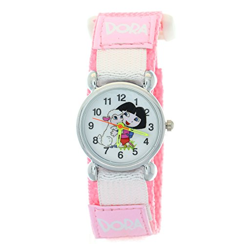 Dora the Explorer Cartoon Children Kids Girls Boys Gifts Velcro Lovely Analog Quartz Wrist Watches by TimerMall