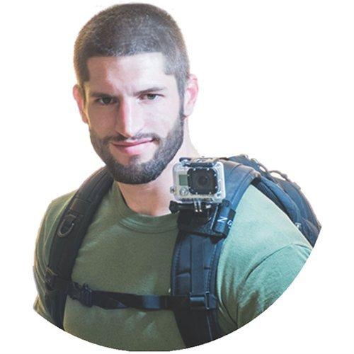 Zgear B3 Mount for GoPro Cameras on BackPack, BCD, Belt & Other straps