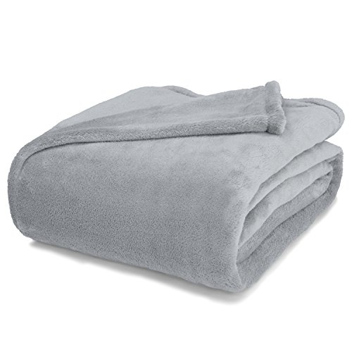 Linen Avenue Luxury Queen/Full Pewter Micro Plush Blanket