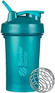 Garrafa coqueteleira clássica BlenderBottle V2 para shakes de proteína e pré-treino, 590 ml, azul-petróleo