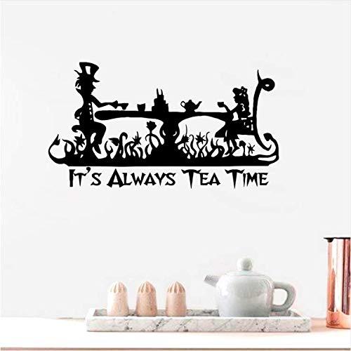 BEIKE Vinyl Art Sticker It's Always Tea Time Wall Decal 8846Cm