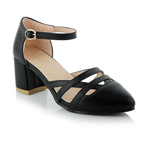 36 AdeeSu EU Noir 5 Sandales Femme Noir Compensées SLC03916 Uf7qYUH