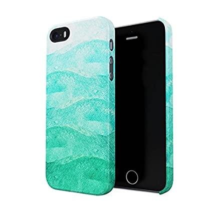 innovative design 2a06d 31f05 Jade Green & Mint Watercolor Ombre Hard Plastic Phone Case For iPhone 5 &  iPhone 5s & iPhone SE