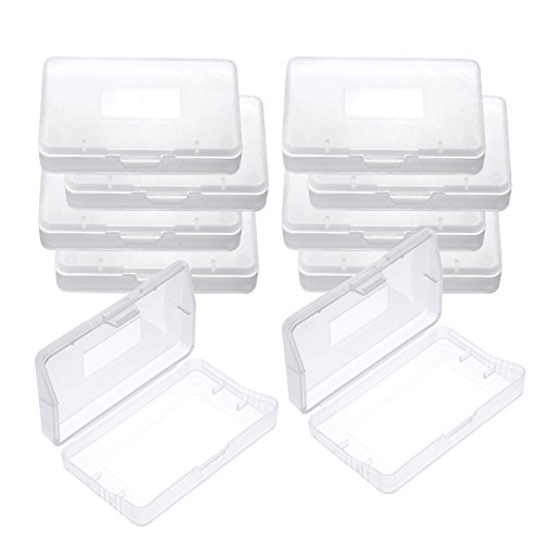 mudder-10-pieces-clear-plastic-game-card-case-game-card-storage-box-for-nintendo-game-boy-advance-gb