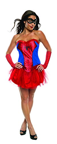 Best Superhero Couple Costumes (Secret Wishes Women's Marvel Universe Secret Wishes Spider-Girl Costume Tutu Dress and Mask, Multicolor, Medium)