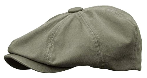 Rooster Washed Cotton Newsboy Gatsby Ivy Cap Golf Cabbie Driving Hat (Small, ()