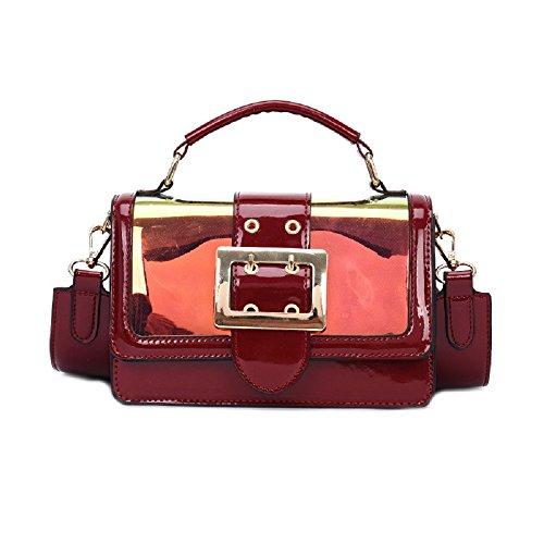 Shoulder Bag Woman Red Black Shoulder Girl Zhrui Woman Bag Color Leather Fashion Tote 4qdaBpw