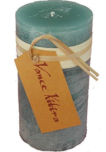 - Vance Kitira Timber Collection Pillar Candle - Sea Glass (3.25