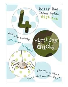 4th Birthday Badge Set by Molly Mae