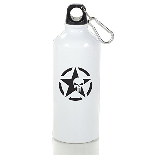 XIYX Army Star Skull Logo Classic Aluminum Sports Water Bottle Leak-Proof Lid 400 Ml/ 500 Ml/ 600 Ml](J Force Paintball)