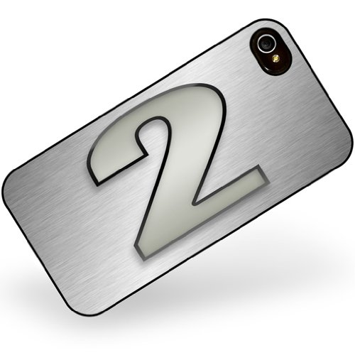 iphone 4 4s 2 number as apple gray - Neonblond