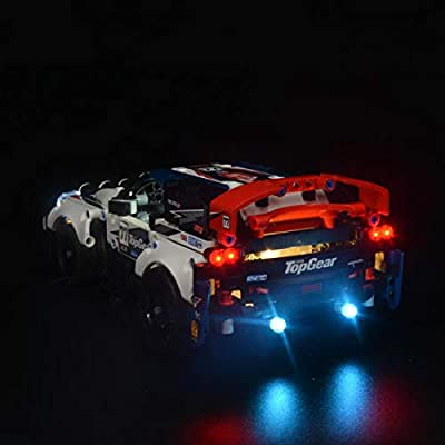 Haoun Lighting Kit Light Kit for Technic App-Controlled Top Gear Rally Car 42109 Building Blocks Model, Light Kit Accessories Compatible with Lego 42109, No Lego Set: Toys & Games
