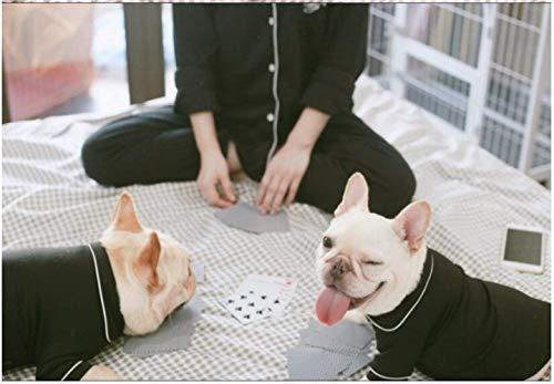 size E Supplies Pet Estate Abbigliamento Pigiama L Qiche Nero Primavera g8BdXwxq