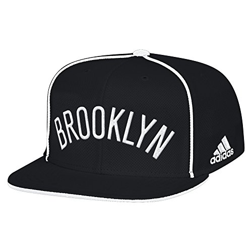 fan products of NBA Brooklyn Nets Men's Fanwear Team Flat Brim Snapback Cap, One Size, Black