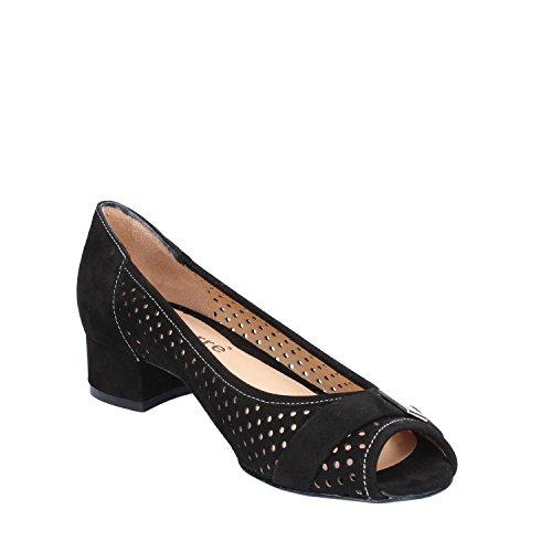 Gamuza Negro Mujer Salón Calpierre De Zapatos WH7qnBA