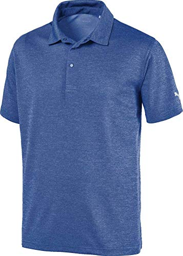 Puma Golf Men's 2019 Grill To Green Polo, Surf The Web Heather, Medium