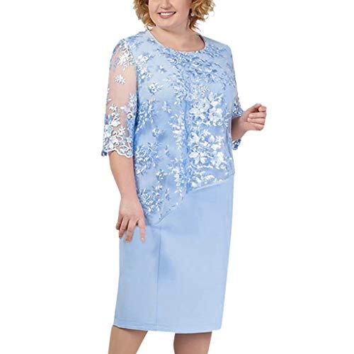 - Toimothcn Women Elegant Sequin Wedding Dress Plus Size Lace Sleeve Mother of The Groom/Bride Dresses S-5XL(Blue,XXL)