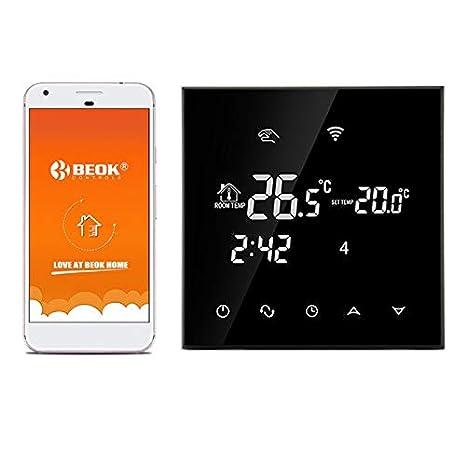 Termostato de ambiente BEOK TGT70WIFI-EP, marca Beok, para calefacción eléctrica debajo del