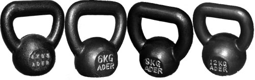 Ader Competition Kettlebell Set - (4, 6, 8, 12kg) w/ FREE DVD by Ader Sporting Goods