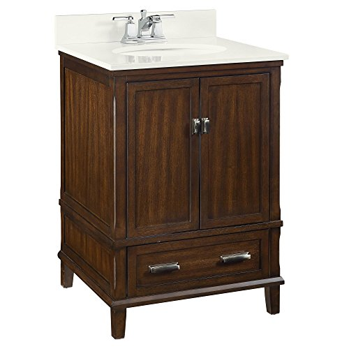 "Dorel Living Otum 24"" Bathroom Vanity, Dark (Walnut Bathroom)"