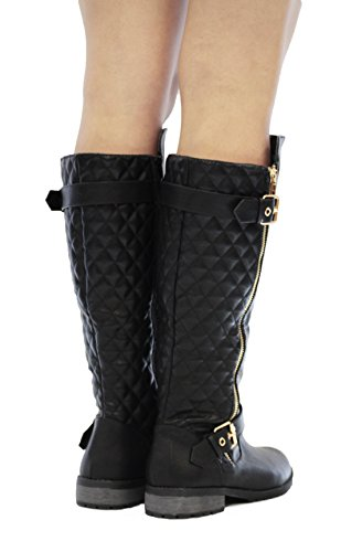 shoes boots gallery in calinda product madden normal riding quilted black girl quilt lyst
