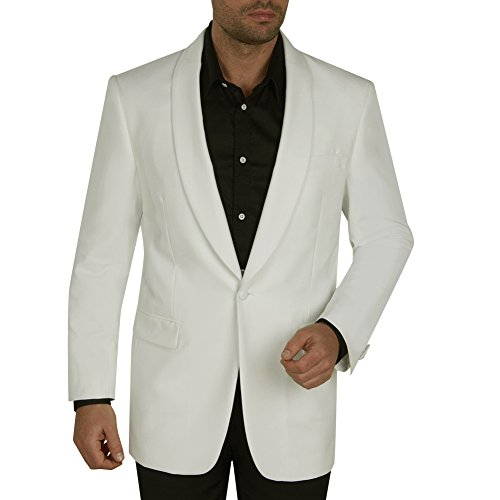 Lapel Dinner Jacket (Giorgio Fiorelli Mens Dinner Jacket With Shawl Lapel Off-White 46L)