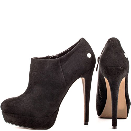 Kolnoo Ankle Stiletto Fashion Boots 13cm Black Formal Womens Heels Evening Platforms Heeled fZzrf