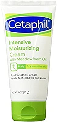 Cetaphil Intensive Moisturizing Cream with Meadow Foam Oil, 3 Fluid Ounce - Buy Packs and SAVE (Pack of 4)