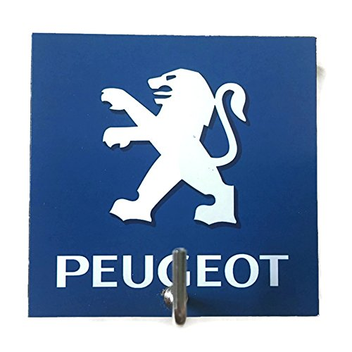 l Hanger Hat Bag Key Adhesive Wood Hook Vintage Peugeot Car Logo's Photo (Racing Tab Kit)