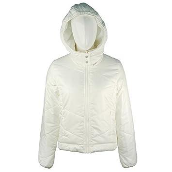 Adidas J Padded Jacket Damen Winterjacke , P03472 ,Weiß
