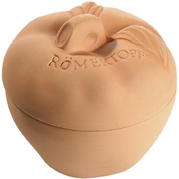 Romertopf 99105 Natural Clay from Germany Apple/Fruit Baker, Tan