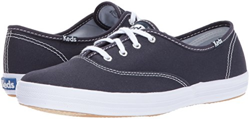 Keds Women's Champion Original Canvas Lace-Up Sneaker, Navy, 6.5 S US