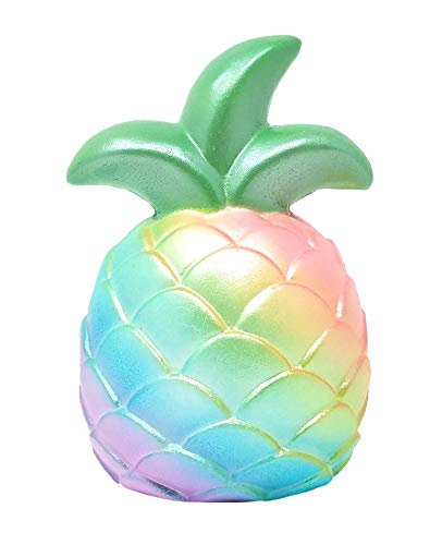 ibloom Slow Rising [Squishy Collection] Pineapple Squishy Kids Cute Adorable Doll Stress Relief Toy Decorative Props [Rainbow]