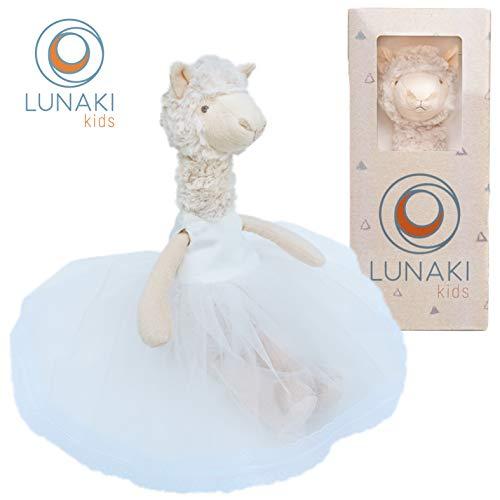 Lunaki Llama Stuffed Animal Plush Toy in White Tutu Dress - Premium Gift for Girls, Great Toys for Birthday, Baby Shower & Christmas - 19 inches (The Best White Girl Twerking)