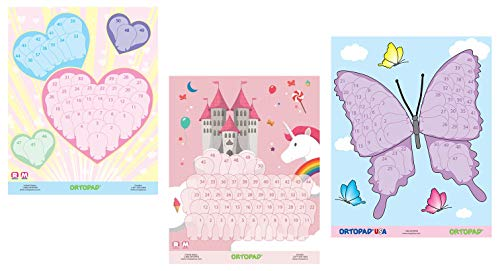Ortopad Girls Reward Poster Pack, Hearts/Castle / Butterfly ()