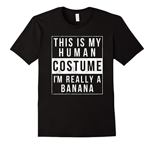 Mens Funny Banana Costume Halloween Shirt Easy for Women Men Kids Large (Funny College Halloween Costumes Ideas Men)