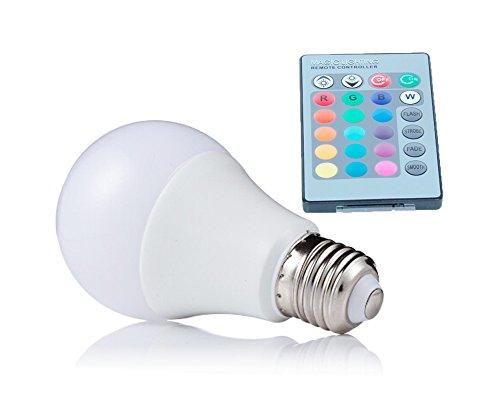 NEW 2018 E27 RGB LED Lamp 10W 15W 20W LED RGB Bulb Light 110V 220V Remote Control 16 Color Change Lampada LED Luz A65 A70 A80 (15)