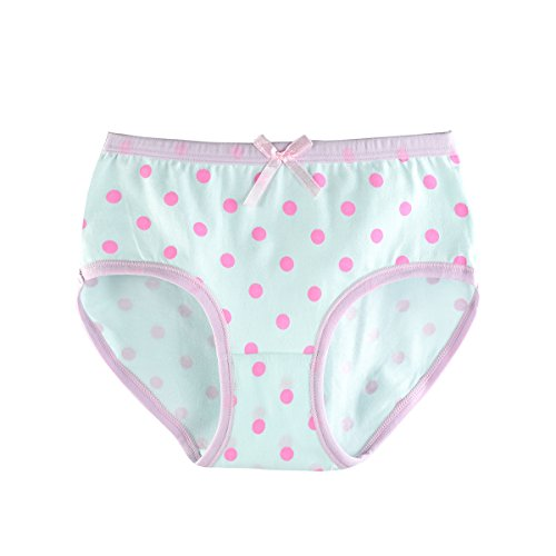 slaixiu Cotton Girls Underwear Briefs Cute Polkadot Cartoon Kids Panties 6-Pack(UW234-150) by slaixiu (Image #6)