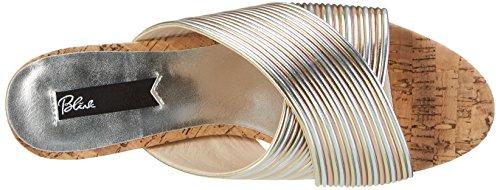 Blink Bl 1295 Bnew-taffyl - Sandalias con cuña Mujer Mehrfarbig (Metallic Multi)