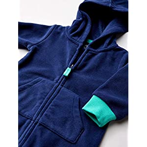 Amazon Essentials Boys' Toddler 2-Pack Microfleece Hooded Coverall