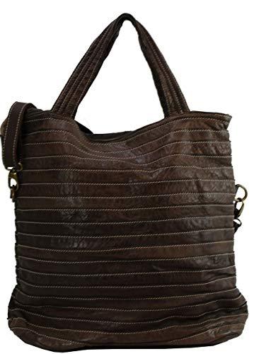 BZNA B0075-0134, Sac pour femme à porter à l'épaule Marron marron X-Large
