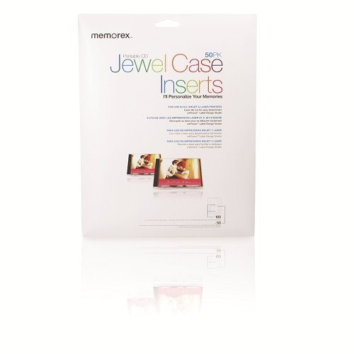 Memorex 32020700 Jewel Case Inserts (50-Pack) Imation 32020018514
