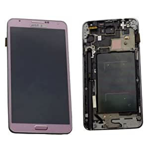LCD Digitizer Touch Screen Display Frame For Samsung Note 3 N9005(Pink)